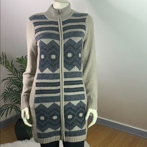 Royal Robbins Full Zip Tribal Wool Blend Cardigan